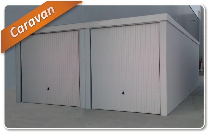 fertiggaragen typ caravan garagen mit erh hter durchfahrt. Black Bedroom Furniture Sets. Home Design Ideas