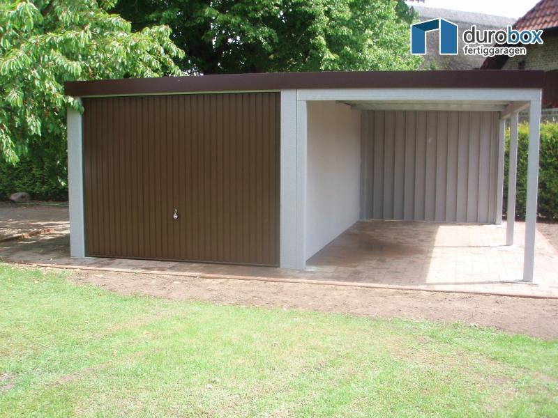 Fertiggarage mit carport  Discount-Garagen.de - Garage mit Carport - Typ Superior