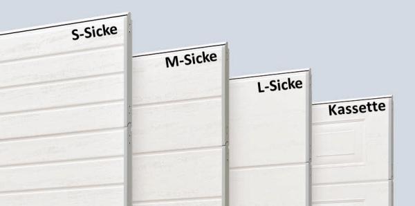 Beispiele der Sicken- & Kassettenoptik