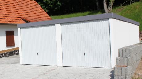 durobox fertiggaragen als doppelgaragen mit torantrieb. Black Bedroom Furniture Sets. Home Design Ideas